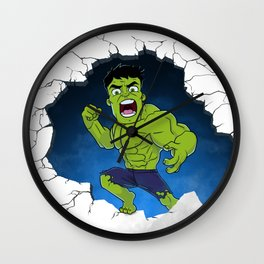 Chibi Hulk Smash! Wall Clock