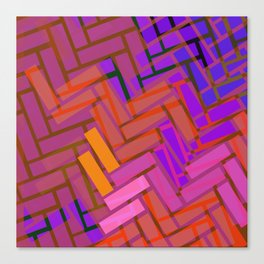 Pop Colored Blanks Canvas Print