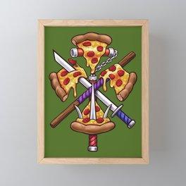Ninja Pizza Framed Mini Art Print