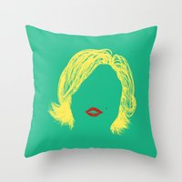 monroe Throw Pillows featuring Monroe by fly fly away
