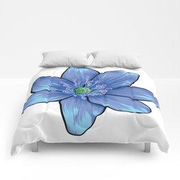 Blue Gentian Flower Comforters