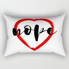 Nope Anti Love Valentine's Day Rectangular Pillow