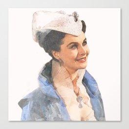 Vivien Leigh - Scarlett O'Hara - Watercolor Canvas Print