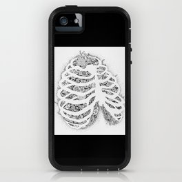 Anatomy Series: Rib Cage Flowers iPhone Case
