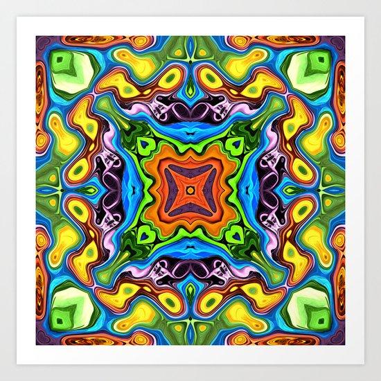 Colorful Mandala Pattern Art Print