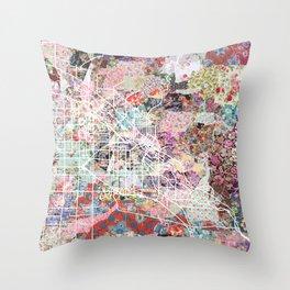 Boise map Throw Pillow