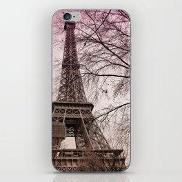 Eifel Tower Paris in pink iPhone Skin