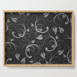 Floral Abstract Vine Art Print Design Serving Tray