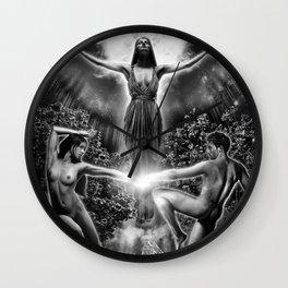 VI. The Lovers Tarot Illustration Wall Clock