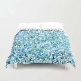 blue and green bubbles Duvet Cover