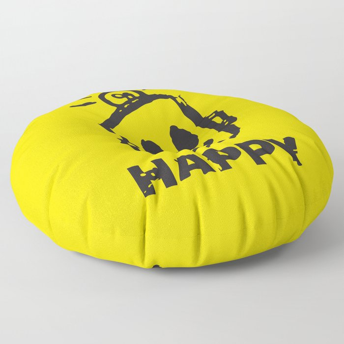 HAPPY  Floor Pillow