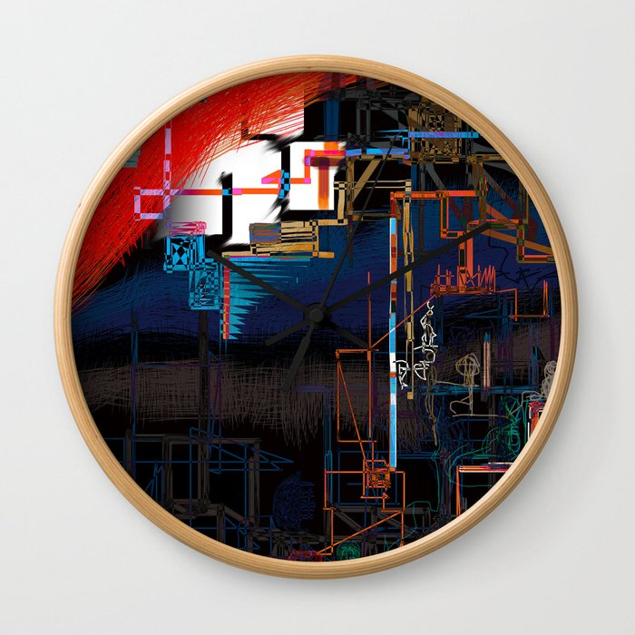 stage installation Wall Clock