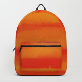 Hot Summer Sunset Watercolor Abtract Backpack