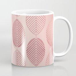 Rose Gold Leaf Pattern Coffee Mug