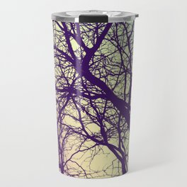 A Network of Tree Branches Travel Mug