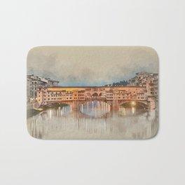 Firenze, Ponte Vecchio Bath Mat