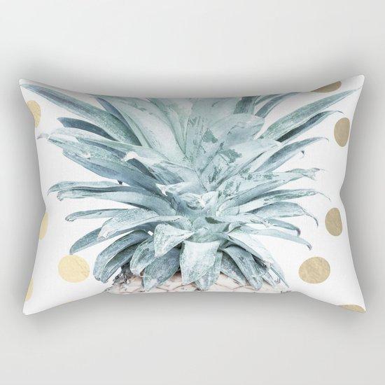 Pineapple crown - gold confetti Rectangular Pillow