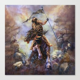 UCF Knight Charge Canvas Print