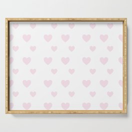 Hearts Seamless Pattern Serving Tray