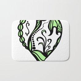 Birth Hearts No.4 - Green Bath Mat