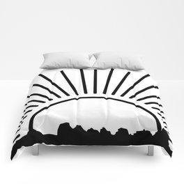 Black sun Comforters