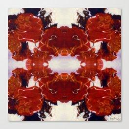 Red Rosie Photographic Pattern Canvas Print