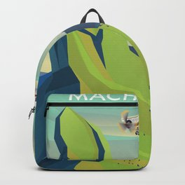 machu picchu travel poster Backpack