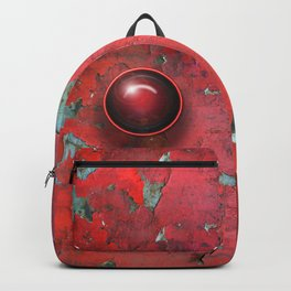 Red Cracked Open Backpack