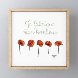 Domaine Coquelicots - Je fabrique mon bonheur Framed Mini Art Print