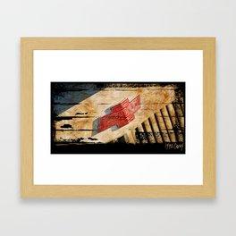 Chevy Rat Rod Badge Framed Art Print