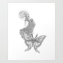 Moon Moths Art Print