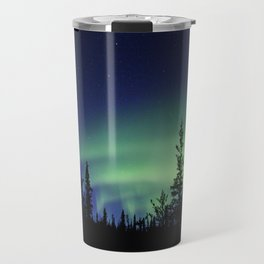 Aurora Borealis Landscape Travel Mug