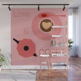 Love & Coffee Wall Mural