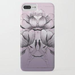 Purple bloom of Magnolia iPhone Case