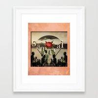 samurai Framed Art Prints featuring samurai by Rosa Picnic
