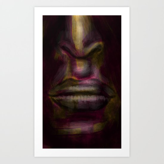glowing face Art Print