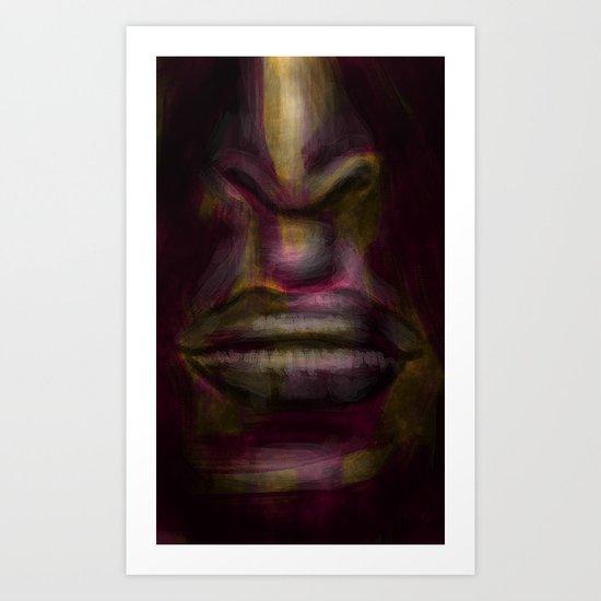 glowing face Art Print
