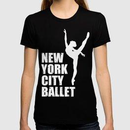 Nyc Ballet Shirt Ballerina Dancer New York Dancing Scool T-shirt