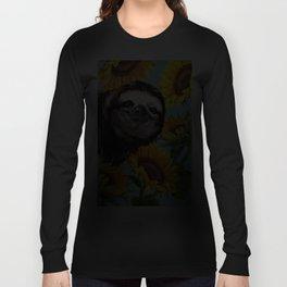 Sloth with Sunflowers Langarmshirt