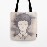 cosmos Tote Bags featuring cosmos by Shiro