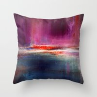 romance Throw Pillows featuring Romance by Liz Moran