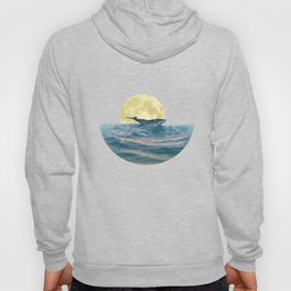 Whale under the moon Minimalist Hoody