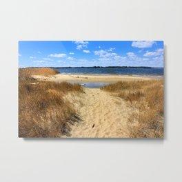 Blue Waters Beach Metal Print