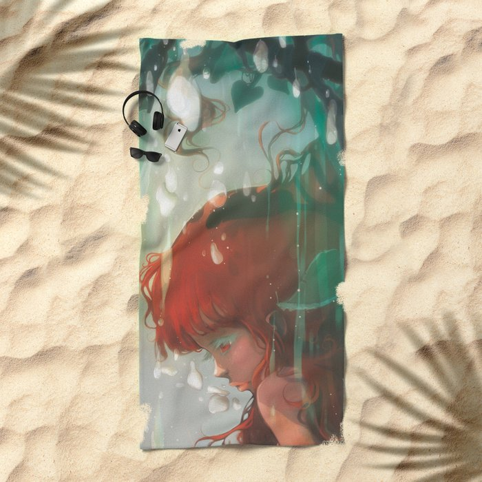 Le lac Beach Towel
