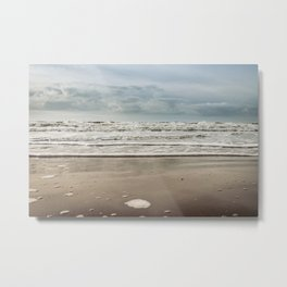 Oceanview Sunset Sky Dutch coastline Pastel color - Landscape Nature colorful Photography - Framed Art Nature Print  Metal Print