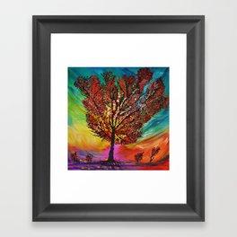 The Wow Tree Framed Art Print