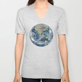 Planet Earth from Above Unisex V-Neck