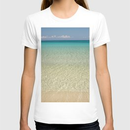 Crystal clear turquoise shaded waters of a sandy beach T-shirt