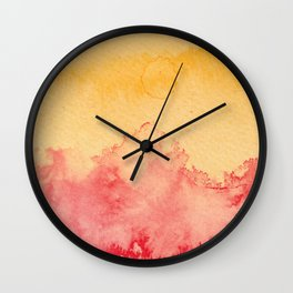 Abstract landscape watercolor 2 Wall Clock