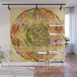 Milkweed Mandala | Deep Dream Edition 1 Wall Mural